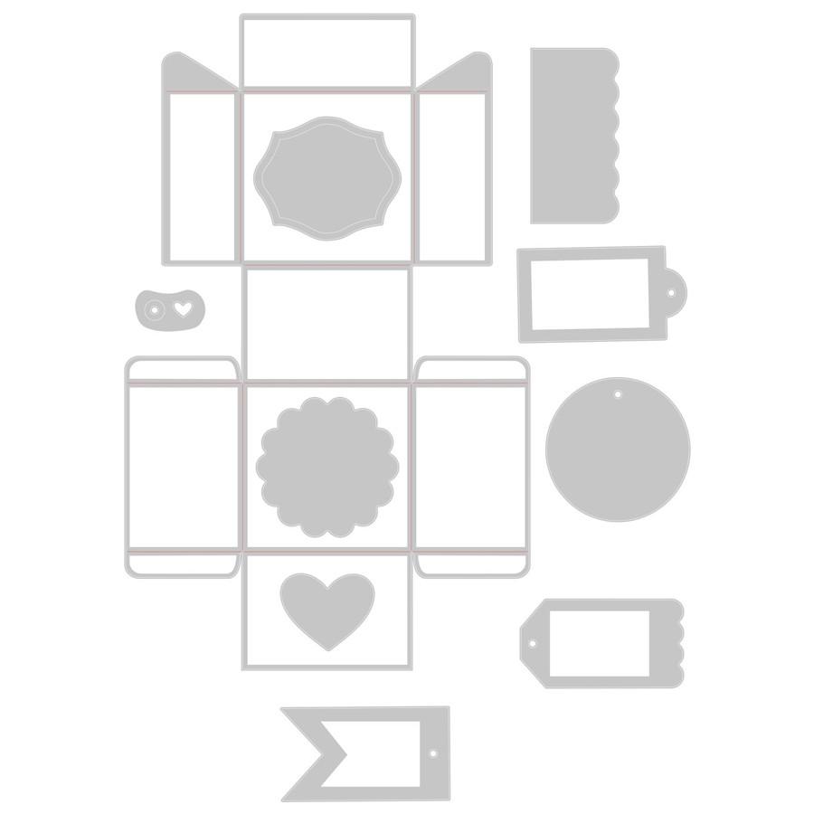 Thinlits Plus Die Set Boîte et étiquettes - 10 pcs