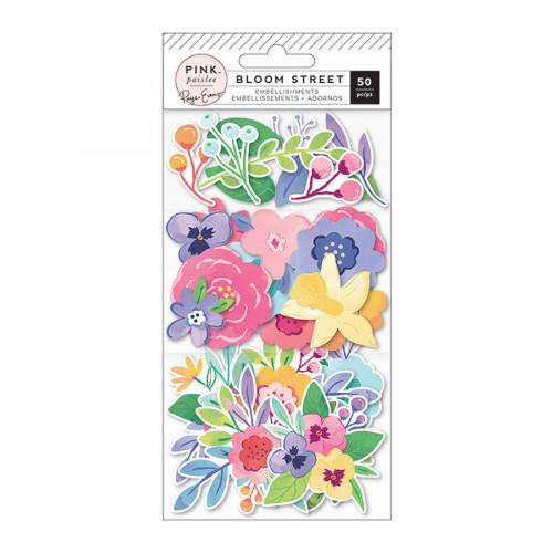 Bloom Street Formes découpées Fleurs - 50 pcs