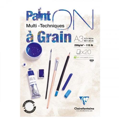 Bloc de papier à Grain Paint'On 250 g/m² A3