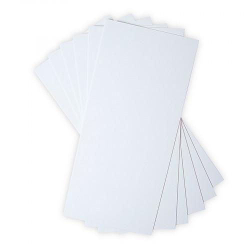 Lot de 6 planches de carton blanc - 15,2 x 33 cm