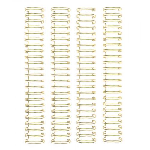 Spirales pour reliure or 2,5 x 29,2 cm - 4 pcs