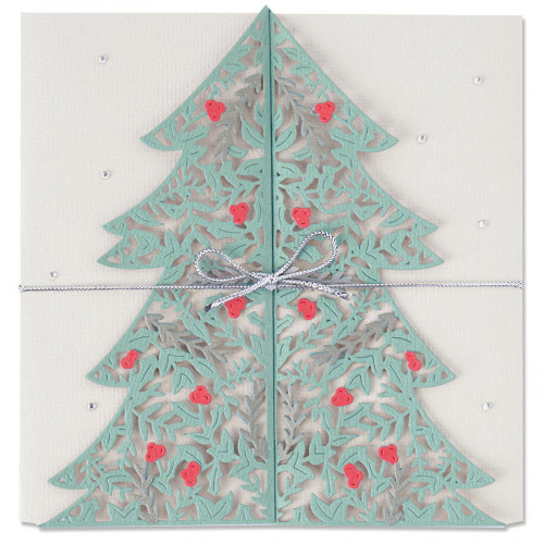 Thinlits Die Set Carte Sapin de Noël - 2 pcs