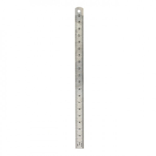 Réglet en inox gradué 2 faces 20cm flexible