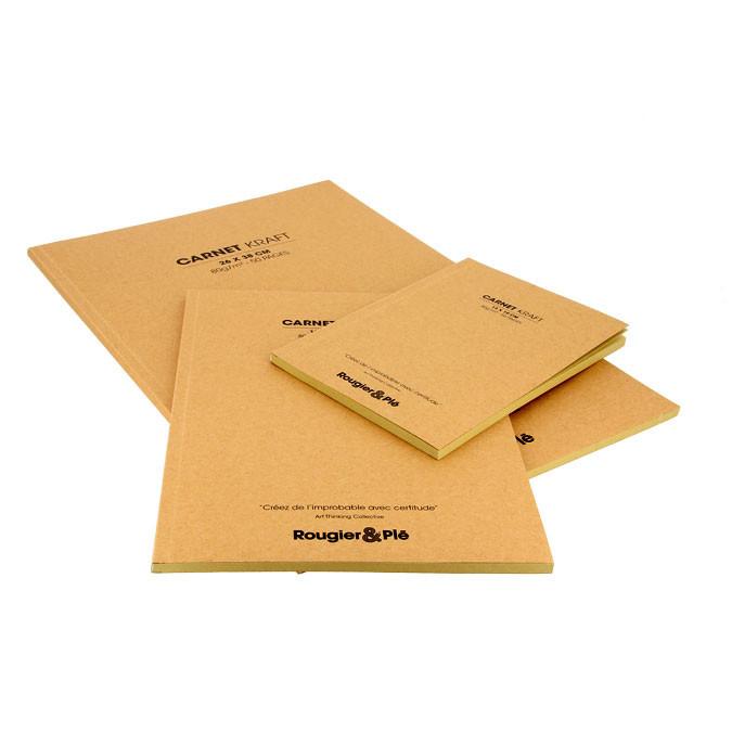 Carnet papier Kraft 80 g/m² 50 feuilles 13 x 19 cm
