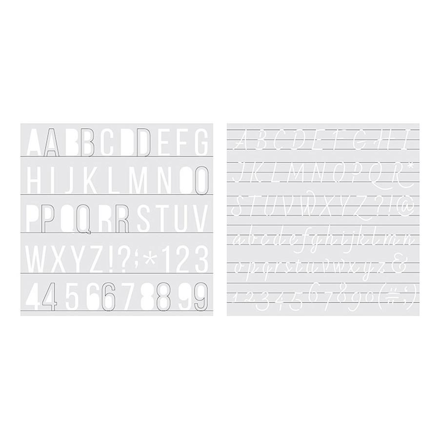 Pochoirs Alphabet et chiffres Foil Quill - 2 pcs