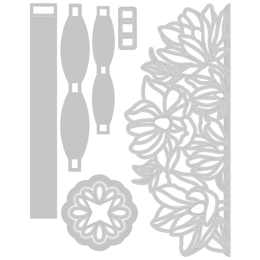 Thinlits Die Set Emballage fleuri - 7 pcs