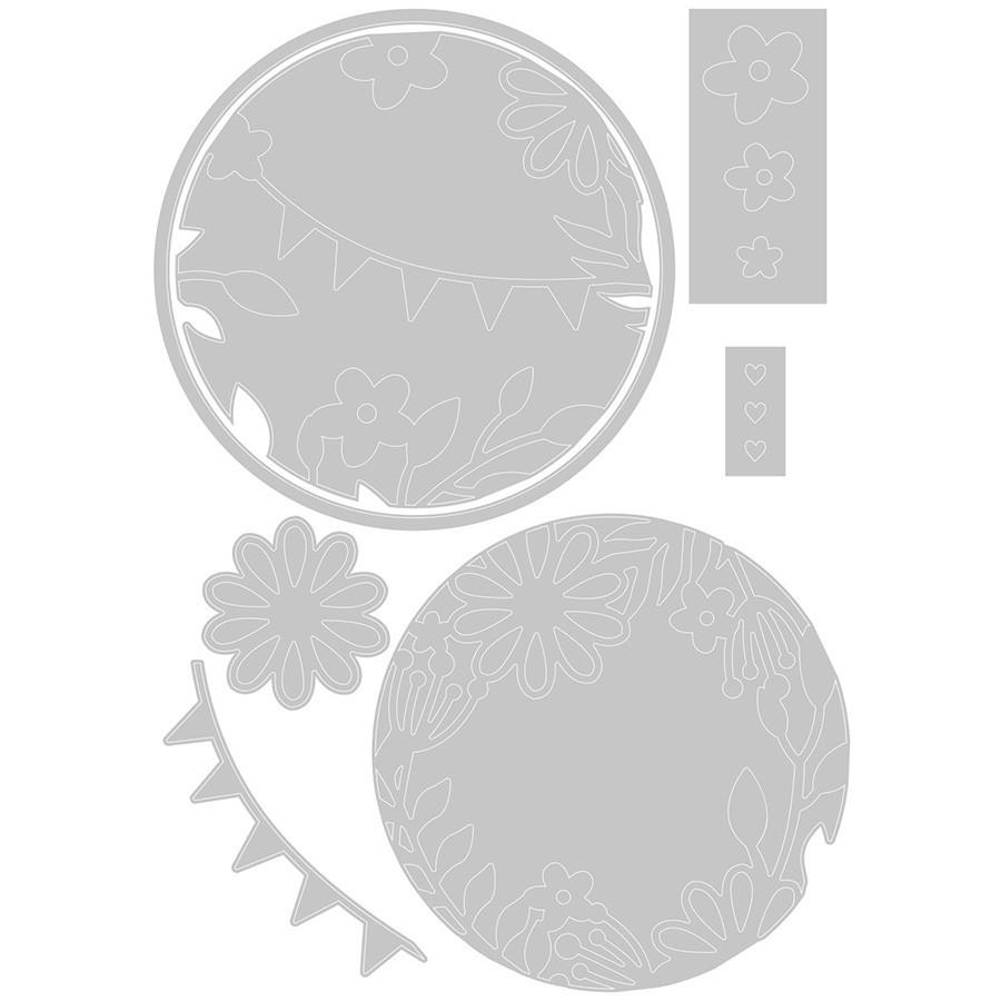 Thinlits Die Set Elements romantiques - 7 pcs