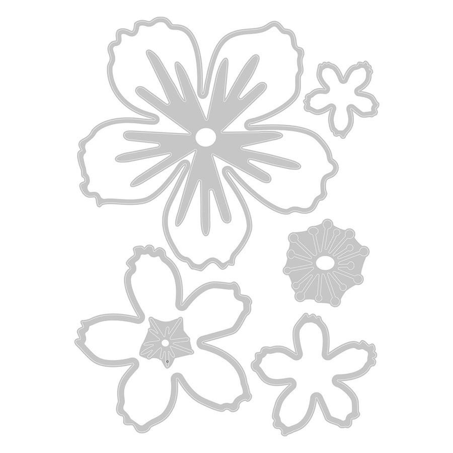 Thinlits Die Set Explosion de fleurs - 7 pcs