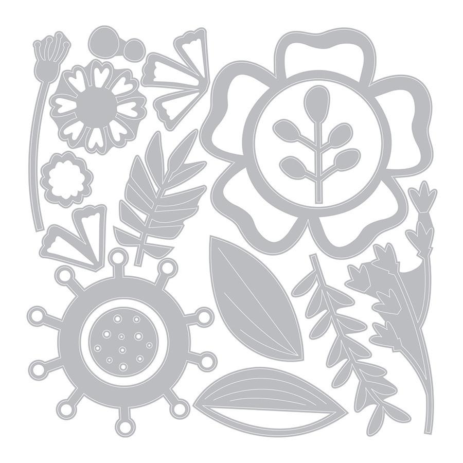 Thinlits Die Set Fleurs créatives - 15 pcs