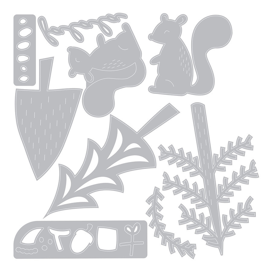 Thinlits Die Set Ecureuils festifs - 10 pcs