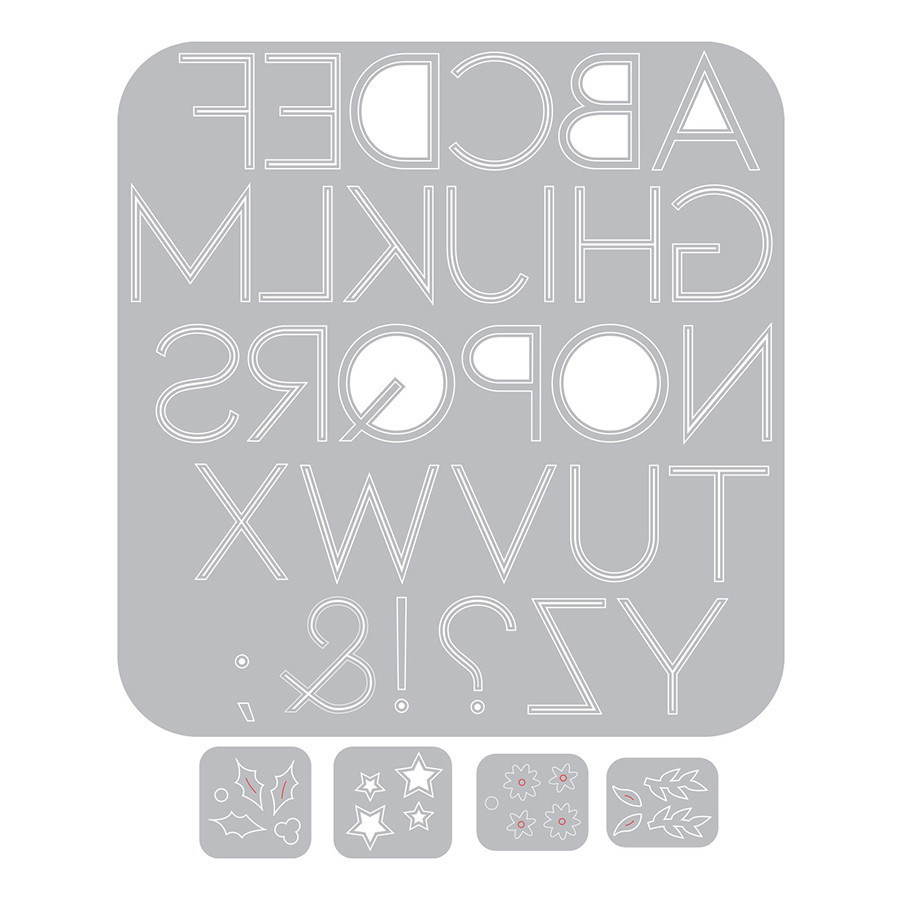 Thinlits Die Set Alphabet décoratif - 5 pcs