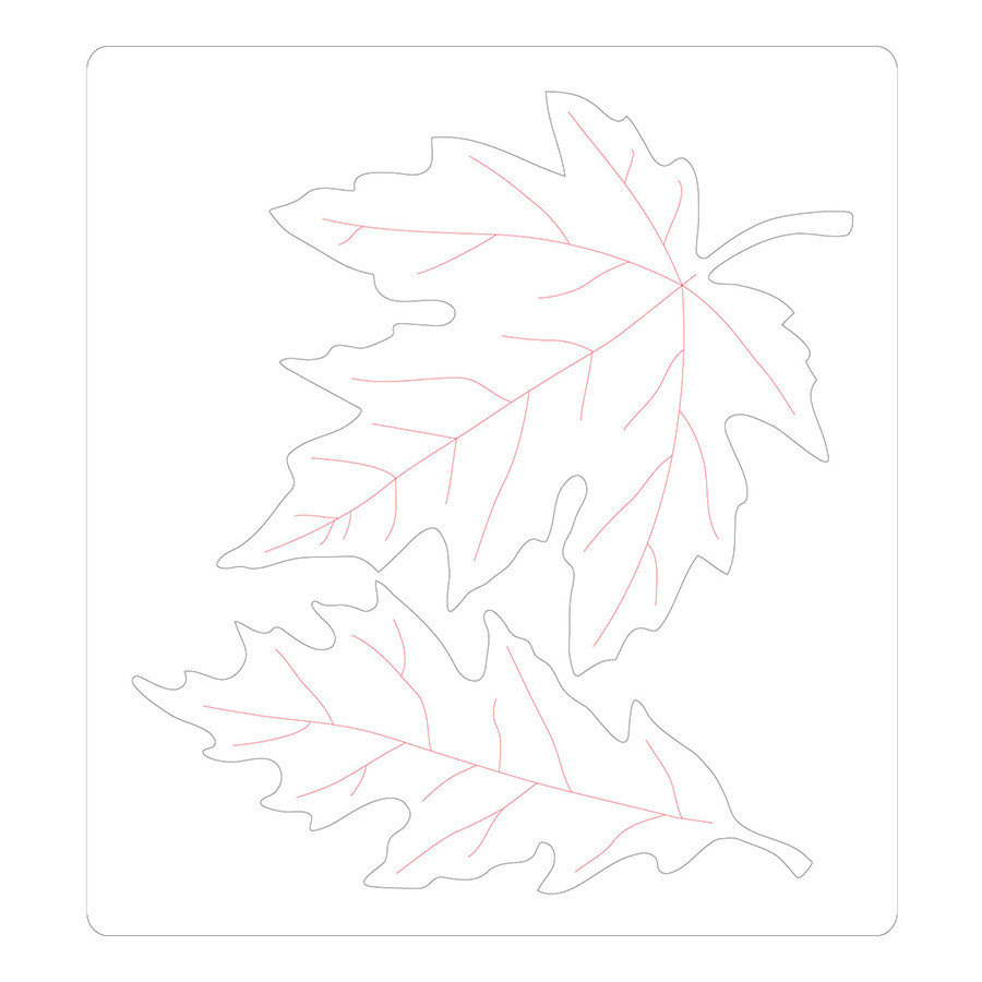 Bigz Die Feuilles d'automne