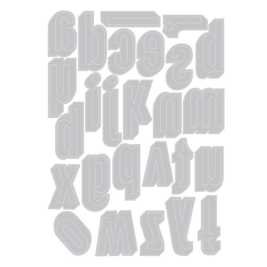 Thinlits Die Set Lettres minuscules ombrées - 26 pcs