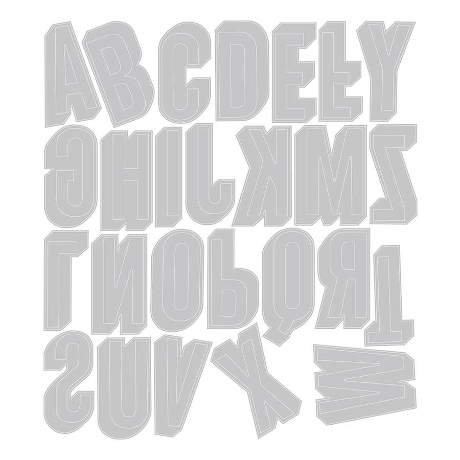 Thinlits Die Set Lettres majuscules ombrées - 26 pcs