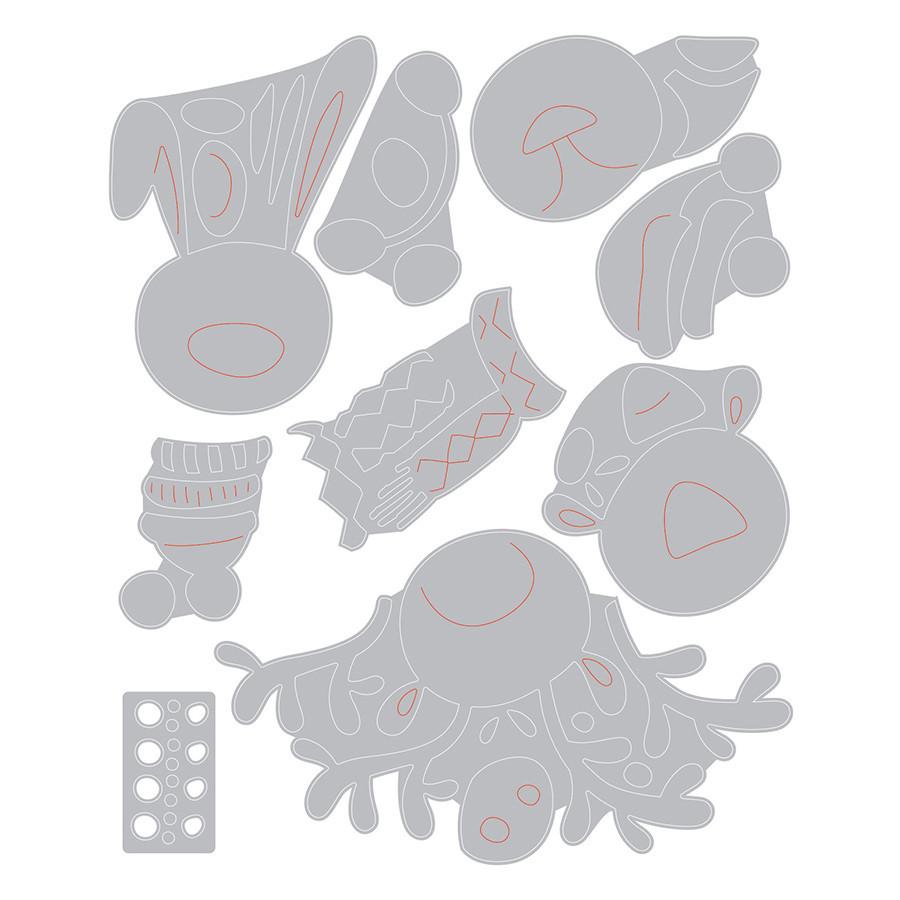 Thinlits Die Set Animaux hivernaux - 9 pcs