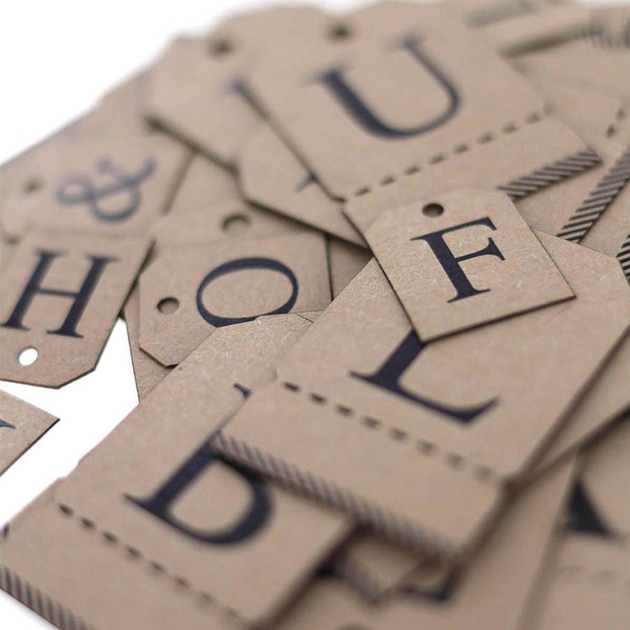 Etiquettes Alphabet kraft