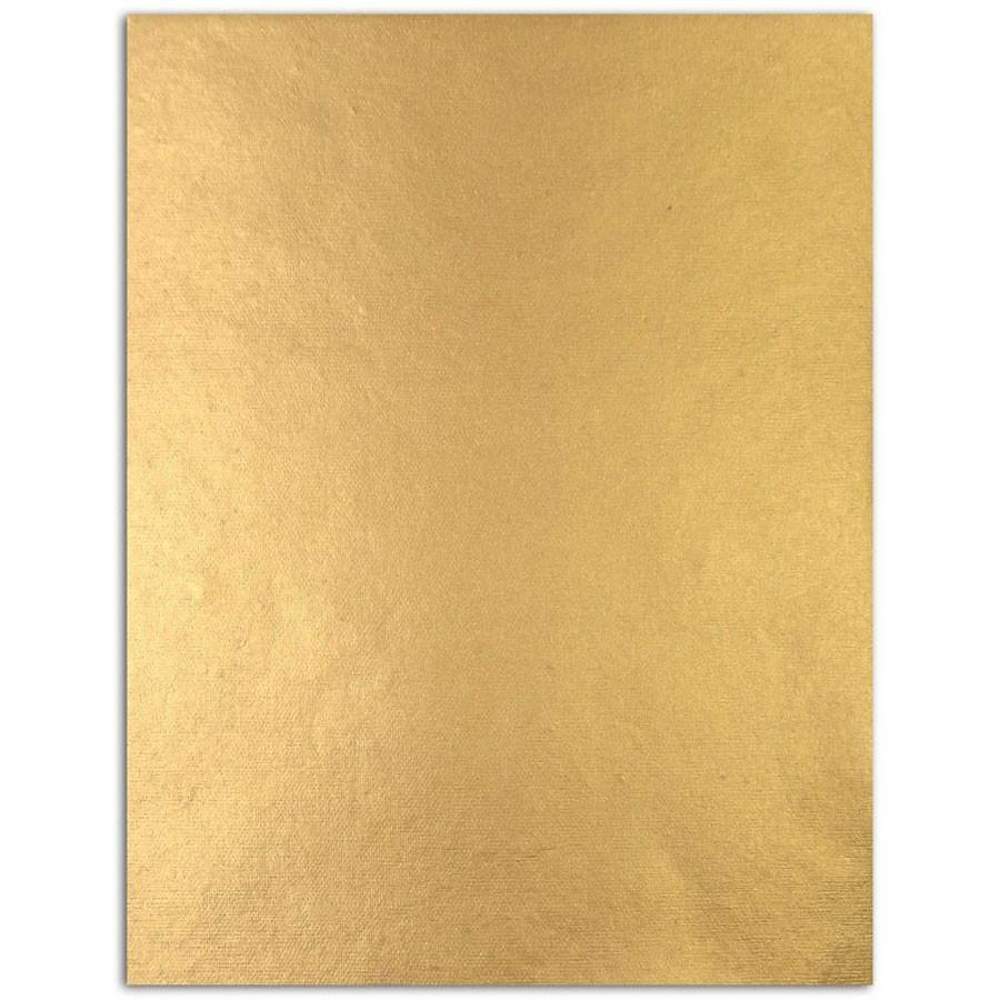Assortiment de 6 papiers L'or de Bombay jaune / vert / or - 21,6 x 27,8 cm