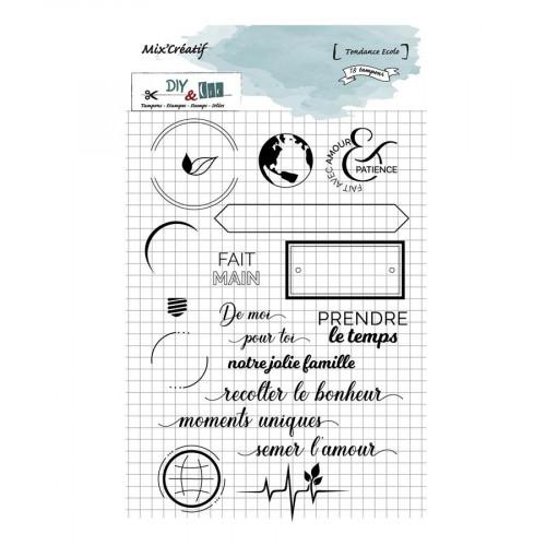 Tampons transparents Tendance écolo - 15 pcs
