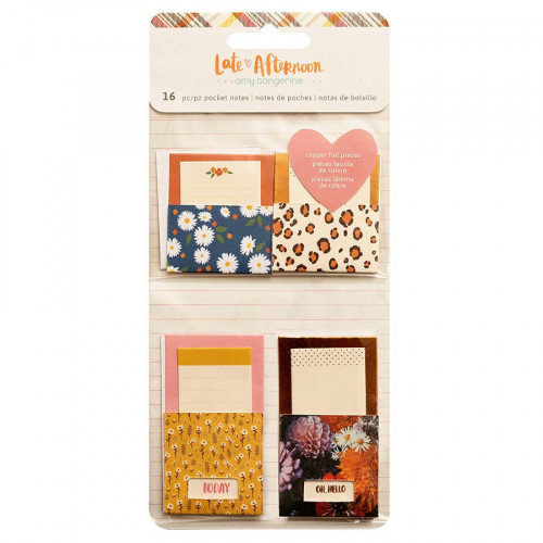Late Afternoon Mini enveloppes adhésives avec cartes - 16 pcs