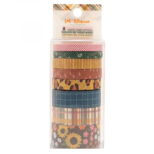 Late Afternoon Washi Tape - 8 rouleaux