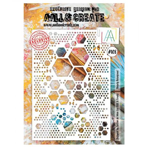Pochoir #108 Hexagons - A4