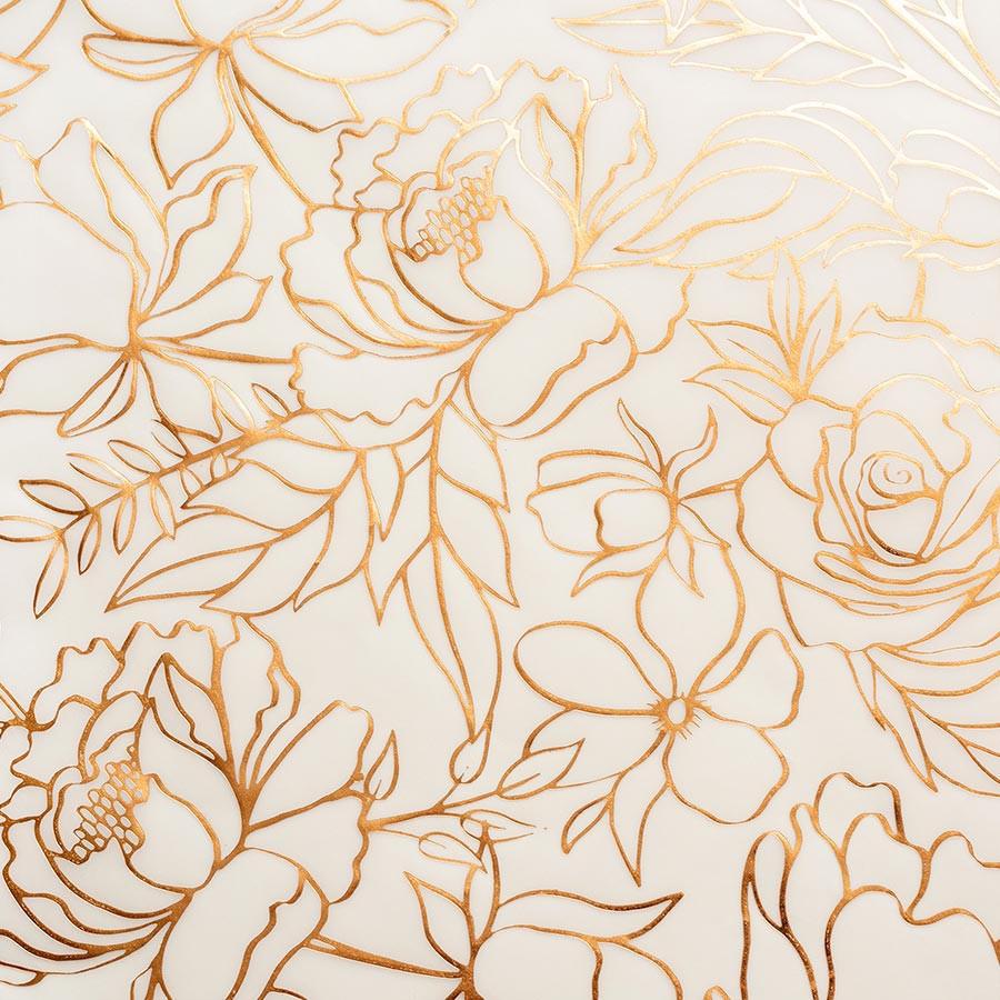 Late Afternoon - Papier spécial calque imprimé cuivre