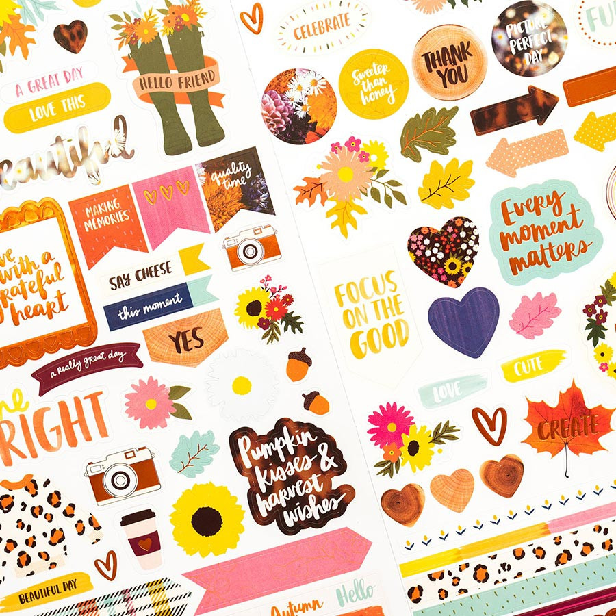 Late Afternoon Stickers - 95 pcs