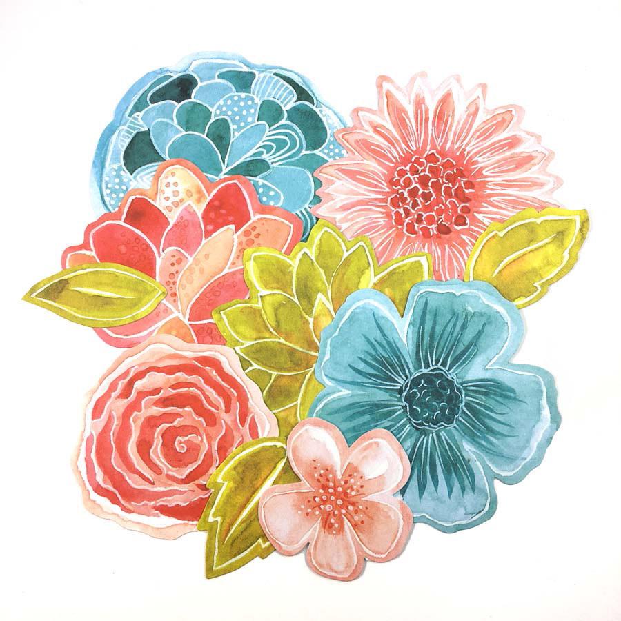 Die-cuts Fleurs