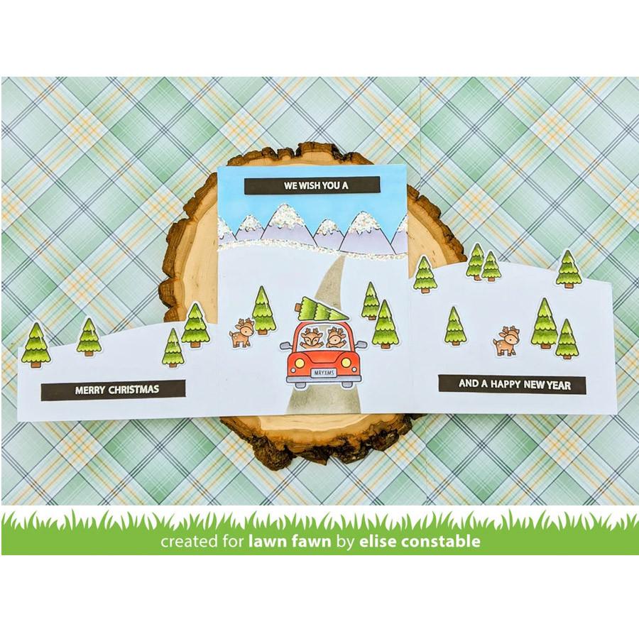 Tampons transparents Animaux au volant : Noël