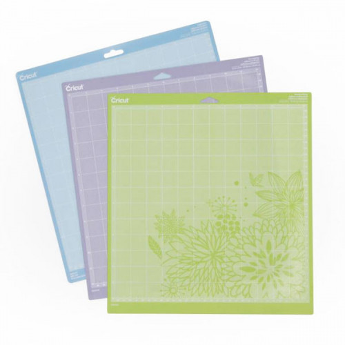 Lot de 3 tapis de coupe CRICUT - 30,5 x 30,5 cm