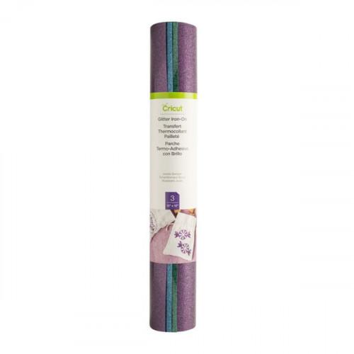 Kit Transfert thermocollant pailleté bleu, vert, violet