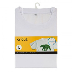 T-shirt blanc col rond à customiser - taille L