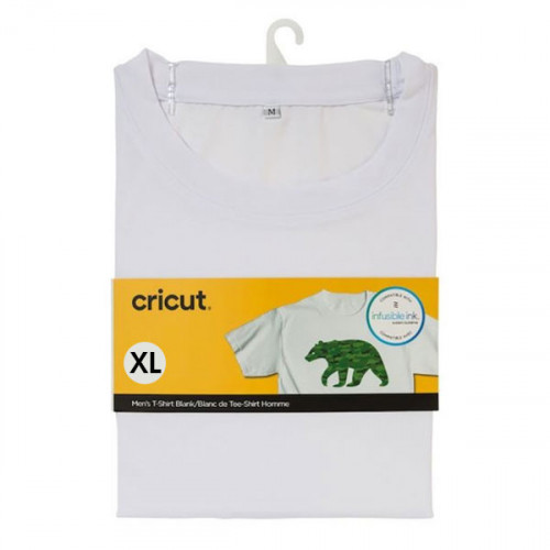 T-shirt blanc col rond à customiser - taille XL