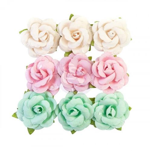 Fleurs en papier acidulées