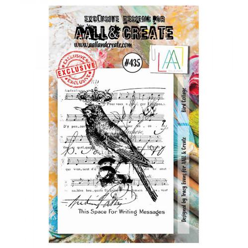 Tampon transparent #435 Collage avec oiseau