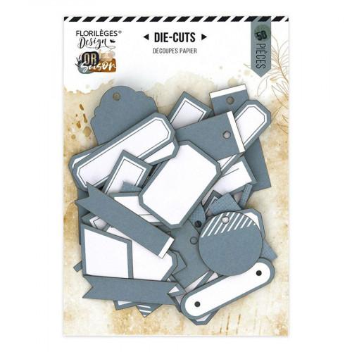 Assortiment Etiquettes #22 - bleu gris