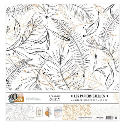 Or Saison Kit papiers calques 30 x 30 cm