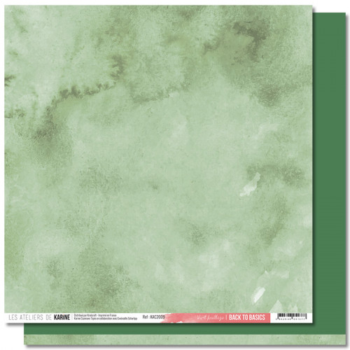 Jardin d'Hiver Back to Basics Papier vert feuillage