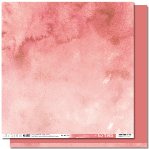 Jardin d'Hiver Back to Basics Papier rouge grenat