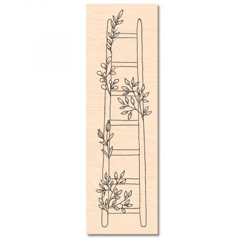 Tampon bois Jolie échelle - 4 x 15 cm