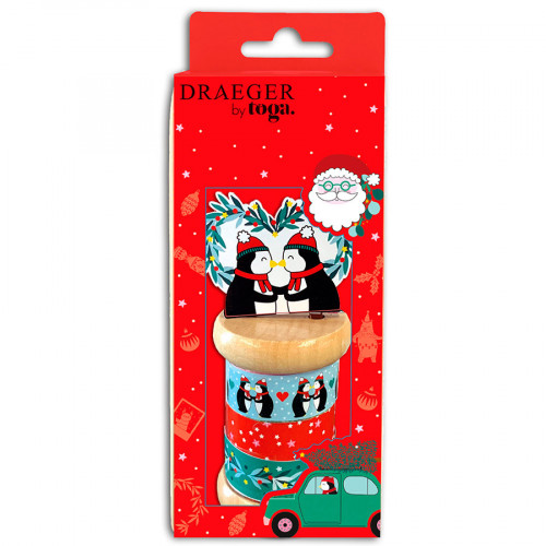 Mini Masking Tape En route vers Noël - 3 rouleaux