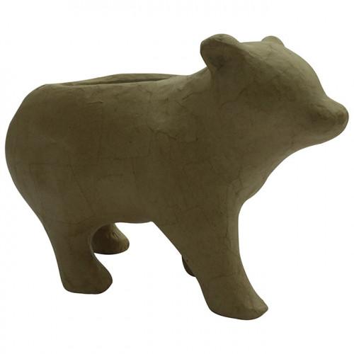 Cache-pot ours en papier mâché