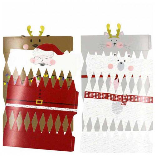 Crackers de Noël à monter  - 4 pcs