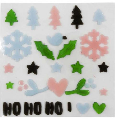 Stickers gel de Noël #2 pour vitres - 29 pcs