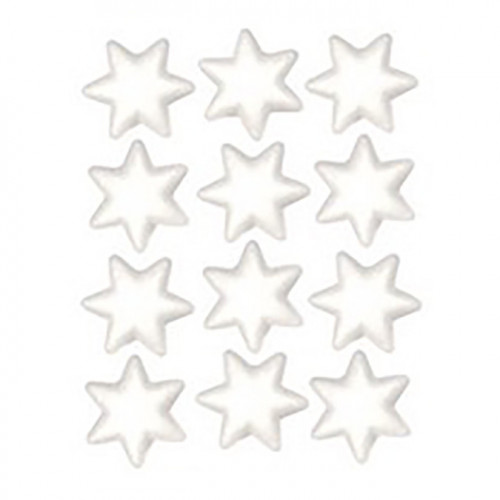 Étoiles en styropor - 12 pcs