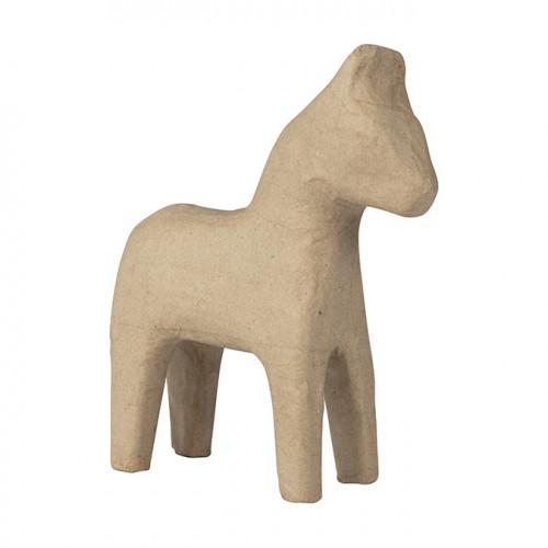 Cheval de Dalécarlie en papier mâché - 17 cm
