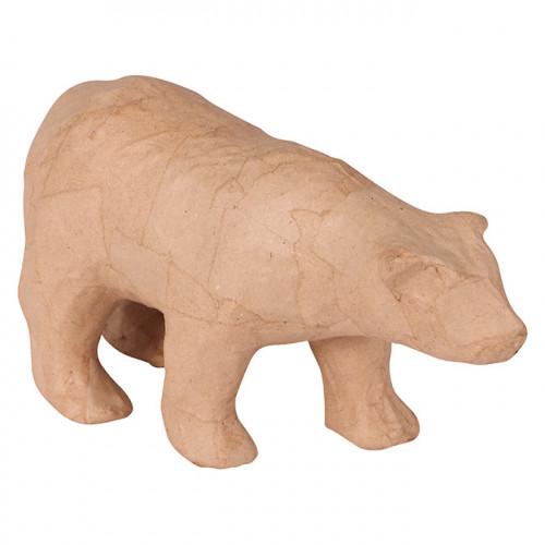 Ours polaire en papier mâché - 22 cm