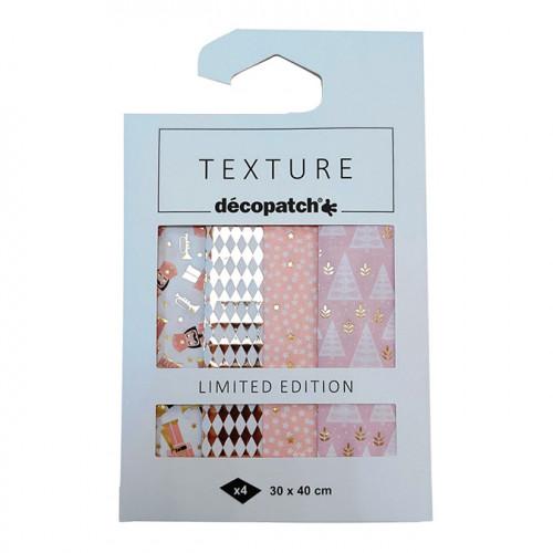 Kit Papier Décopatch Collection Ritournelle - 4 feuilles