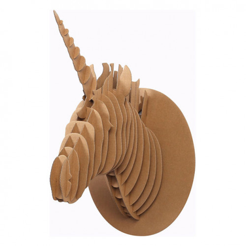 Trophée Licorne en carton - 40 x 26 x 20 cm