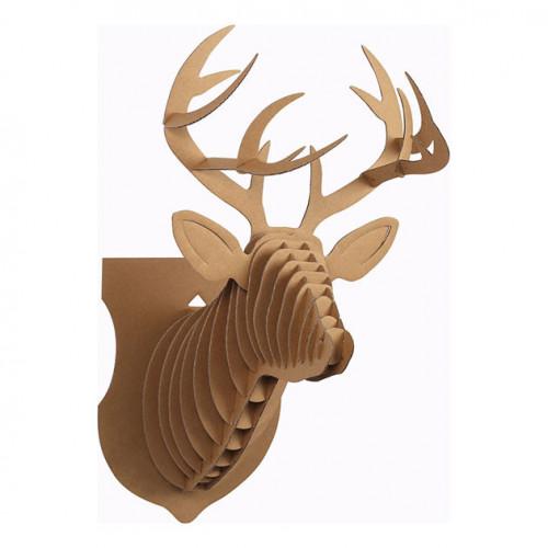 Trophée Renne en carton - 39 x 24,5 x 18 cm